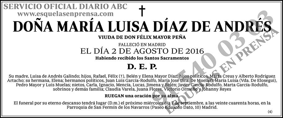 María Luisa Díaz de Andrés